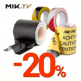 20% discount on the entire range of safety tapes!