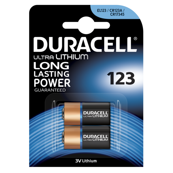 Батарейки Duracell CR123 (DL123-2) 2 шт.