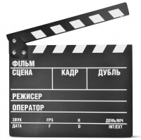 Clapper Board MLux WB-003/1 PREMIUM Black with magnet UKR (Markdown)