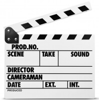 Clapper Board MLux WW-002/1 PREMIUM White with magnet ENG (Markdown)