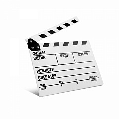 Clapper Board MLux WW-003 PREMIUM White with magnet UKR