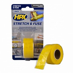 Electrical insulation tape HPX Stretch & Fuse 25mm x 3m Yellow (SG2503)