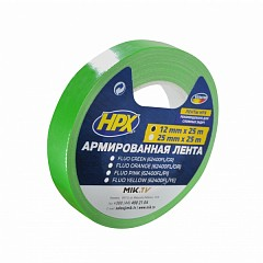 Fluorescent gaffer tape HPX FLUO 12mm x 25m Green (624001225 FL/GR)