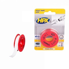 PTFE tape gas HPX 12mm x 12m White (PT1212)