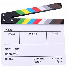 Clapper Board MLux CB-001 White Colorful