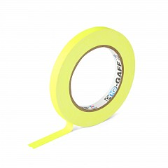 Fluorescent gaffer tape LE MARK PRO-GAFFER™ FLUORESCENT 12mm x 23m Yellow (PROGAFF12NYE)