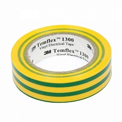 Electrical insulation tape 3m Temflex 15mm x 10m Yellow, Green (1300-YG-15-10.0)
