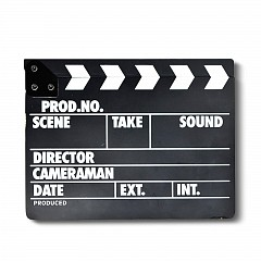 Clapper Board MLux WB-001 Black Wood