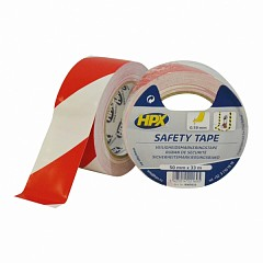 Warning tape HPX Safety Tape 50mm x 33m Red, White (RW5033)