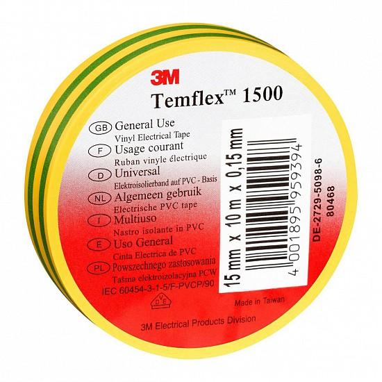 Electrical insulation tape 3m Temflex 15mm x 10m Yellow