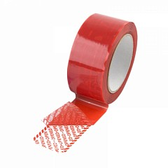 Tamper evident security tape LE MARK 50mm x 50m Red (TE50.8R50)
