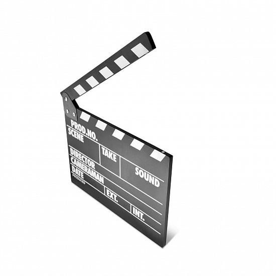 Clapper Board MLux WB-002 PREMIUM Black with magnet ENG