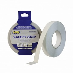 Warning tape HPX Safety Grip 25mm x 18m Transparent (SC2518)