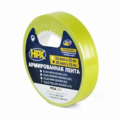 Fluorescent gaffer tape HPX FLUO 25mm x 25m Yellow (624002525 FL/YE)
