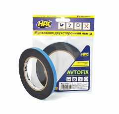 Acrylic tape HPX AUTOFIX 9mm x 5m Black (DSA0905)