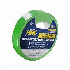 Fluorescent gaffer tape HPX FLUO 25mm x 25m Green (624002525 FL/GR)