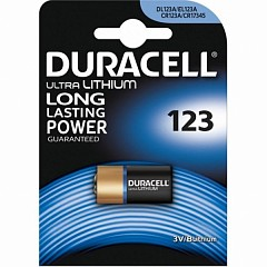 Батарейка Duracell CR123 (DL123) 1 шт.