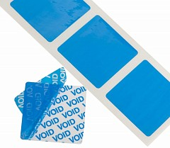 Tamper evident labels LE MARK 38mm x 38mm Blue (TE3838B)