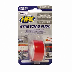Electrical insulation tape HPX Stretch & Fuse 25mm x 3m Red (SO2503)
