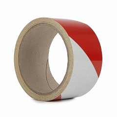 Reflective hazard tape LE MARK 50mm x 5m Red, White (REFRW505)