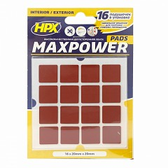 Mounting pads HPX MAXPOWER OUTDOOR Black (OT2020SQ)