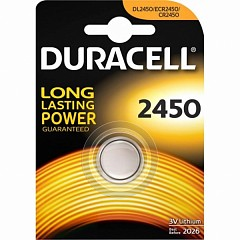 Батарейка Duracell CR2450 (DL2450) 1 шт.
