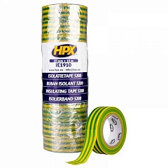 Electrical insulation tape HPX 5200 19mm x 10m Yellow, Green (IE1910)