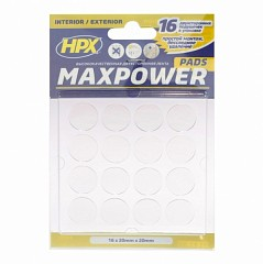 Mounting pads HPX MAXPOWER 20mm Transparent (HT2020CR)