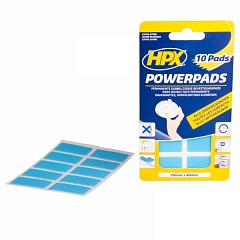 Mounting pads HPX POWERPADS 40mm x 20mm Transparent (PA2040)