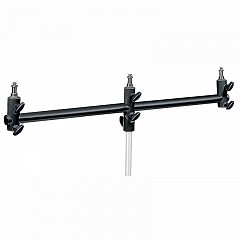 MANFROTTO 154B Black Aluminum Triple Microphone Support