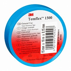 Electrical insulation tape 3m Temflex 15mm x 10m Blue (1500-BE-15-10.0)