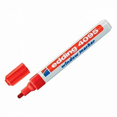 Chalk marker for clapper board Edding 4095 red