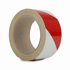 Reflective hazard tape LE MARK 50mm x 10m Red, White (REFRW50)