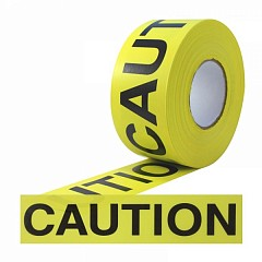 "Warning tape LE MARK ""Caution"" 25mm x 48m Yellow, Black (CT1CABY)"