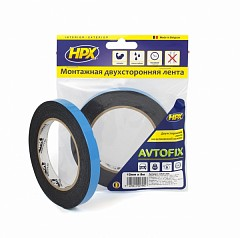 Acrylic tape HPX AUTOFIX 12mm x 5m Black (DSA1205)