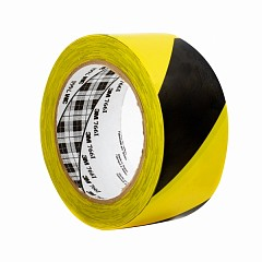 Marking PVC tape 3M Scotch 766 50mm х 33m Yellow, Black (0766-YB-50-33,0)