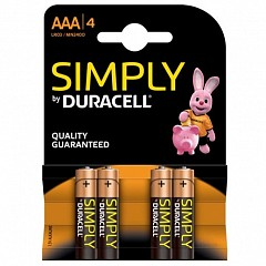 Duracell AAA (LR03-4 Simply) batteries 4 pcs