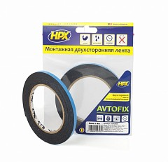 Acrylic tape HPX AUTOFIX 6mm x 5m Black (DSA0605)